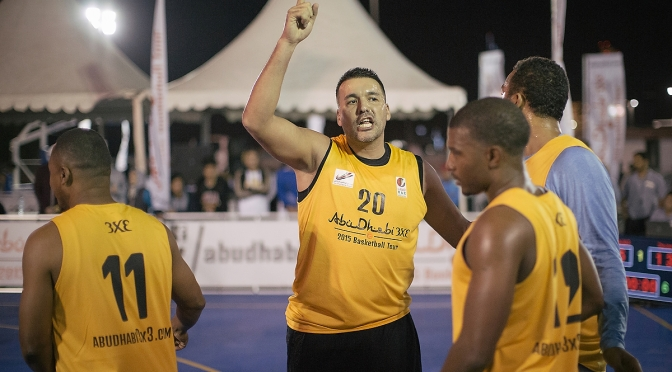 Great games on the first day of Abu Dhabi 3×3 Basketball Tour
