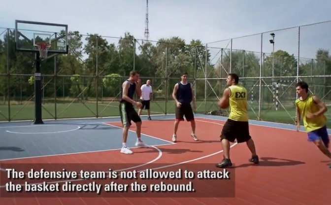 Rule of the day: Continuation after defensive rebound