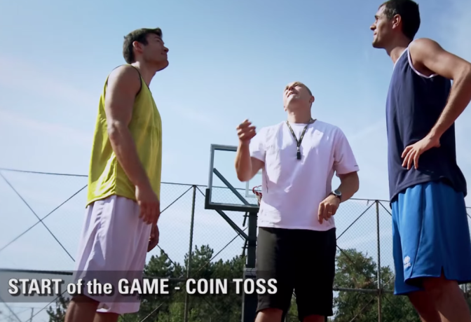 Rule of the day: Coin flip to start the game