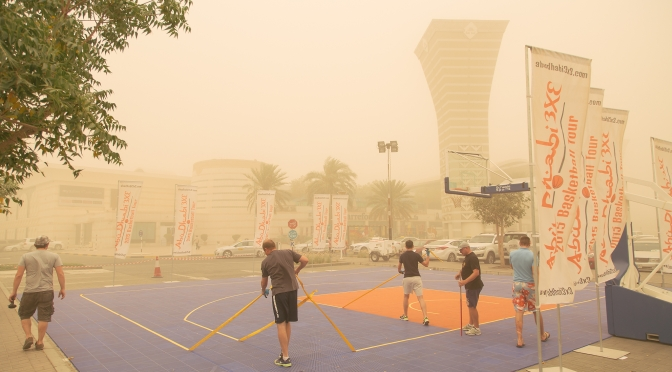 Sandstorm ruined our plans for Al Ain 3×3 tournament