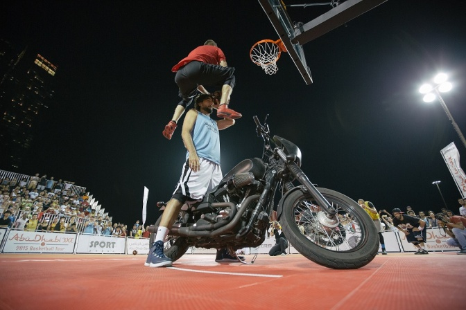 Defying the laws of gravity, at Abu Dhabi 3×3 Tour