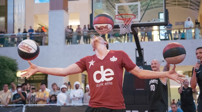 Top class freestyle show in Yas Mall, at Abu Dhabi 3×3 Challenger