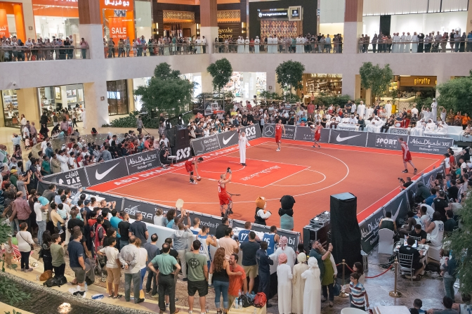 Abu Dhabi 3×3 Challenger, premiere in Yas Mall